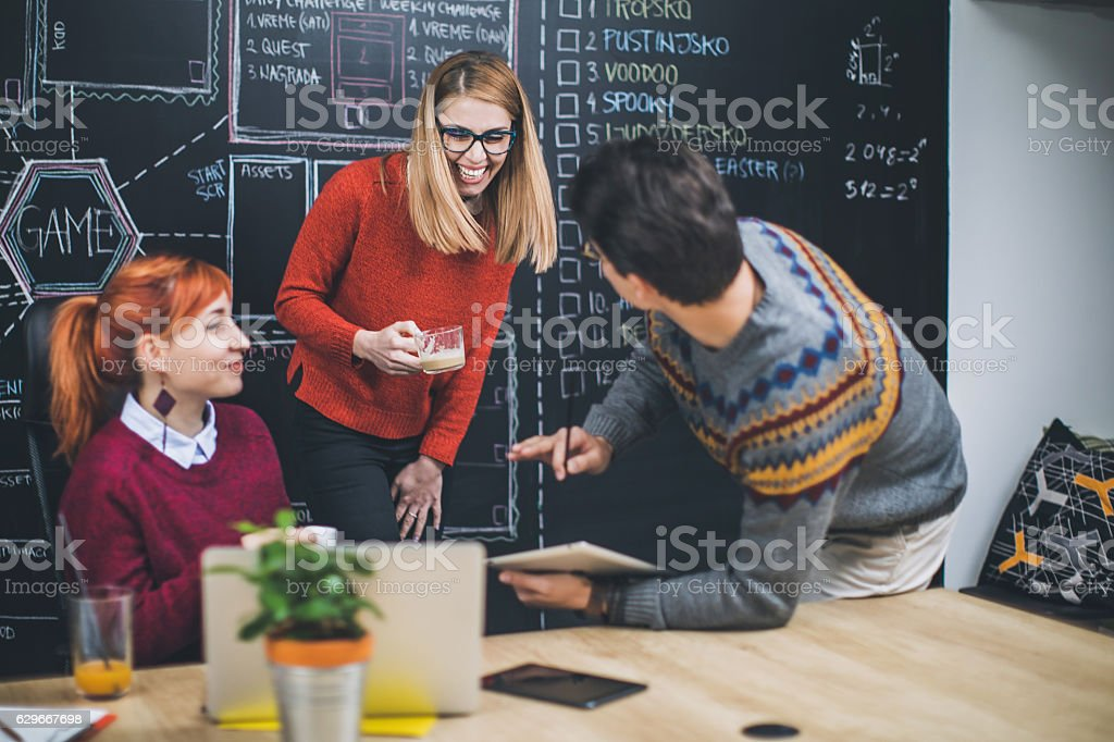 Love to work with this people stock photo