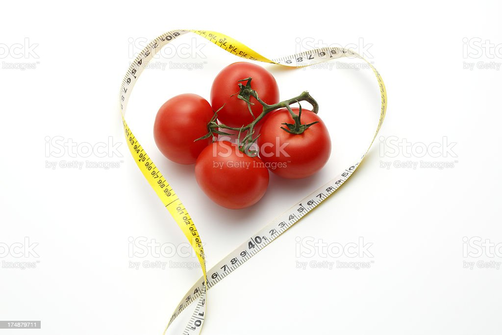 I love tomatoes(Dieting Concept) royalty-free stock photo
