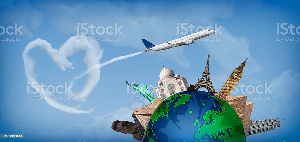 Love travelingall over the world stock photo