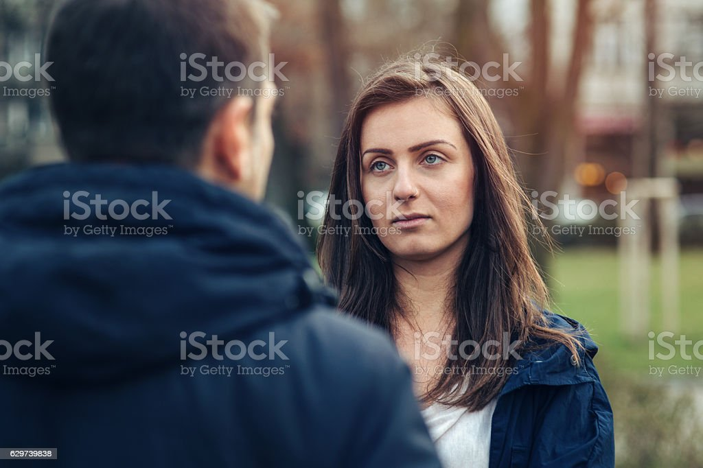 Love troubles stock photo