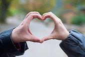 love - two hands forming heartshape