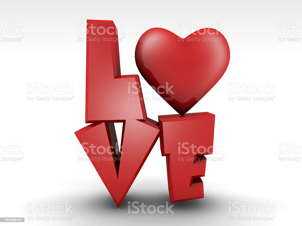 Love Type And Heart Stock Photo Download Image Now Istock