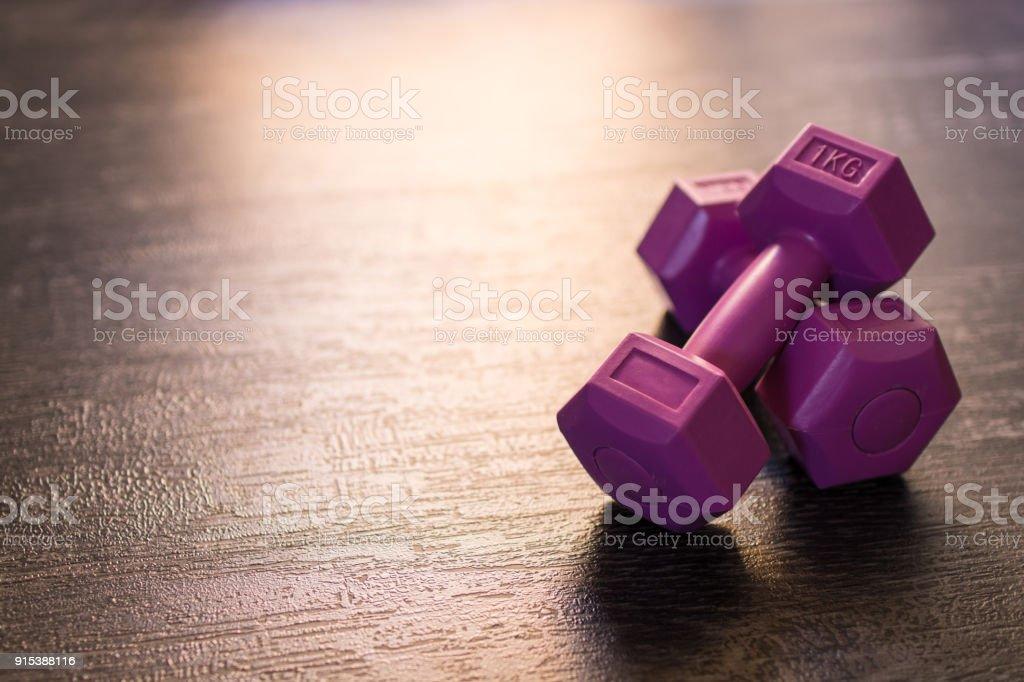 Love using dumbbells stock photo