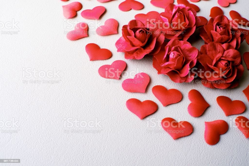 Love Valentines Day Romantic Background Hearts And Roses Beautiful Stock Photo Download Image Now Istock