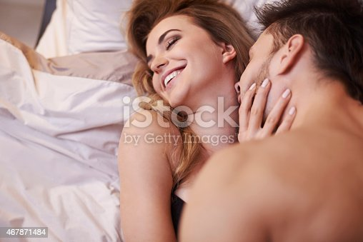 istock I love when he's kissing of me neck 467871484