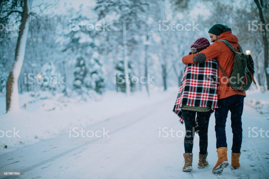 Love will keep us warm stock photo