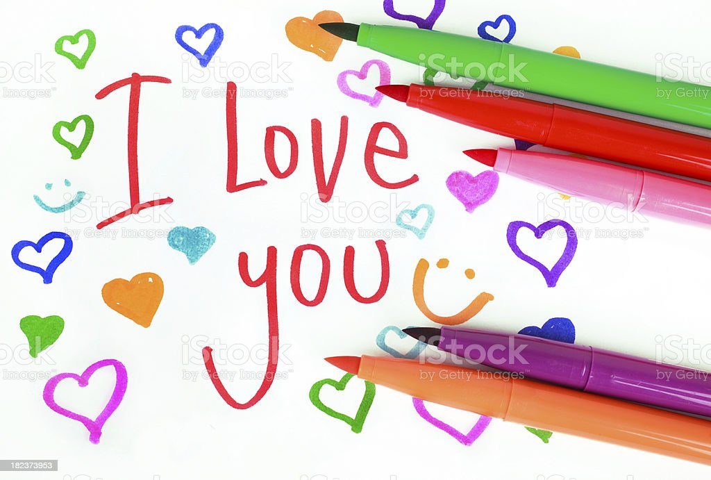 Love with markers royalty-free stock photo