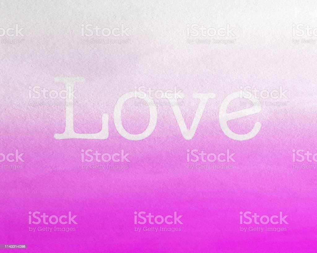 Love with pink Background, watercolor painted Fruit of the Spirit stock photo