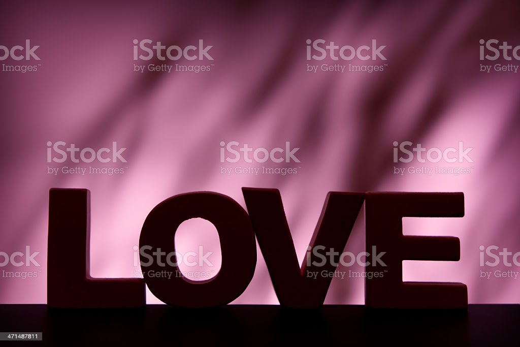 Love, wood letter word royalty-free stock photo