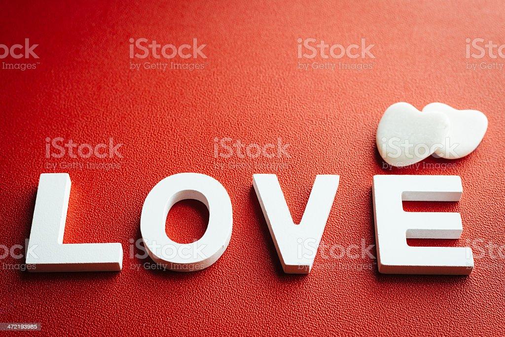 Liebe Wort und dekorativen Hintergrund mit Herzen – Foto