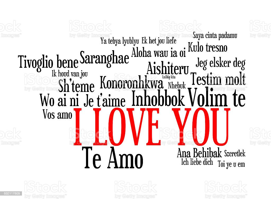 Love Words I Love You In Different Languages Of Theworld Royalty Free Stock