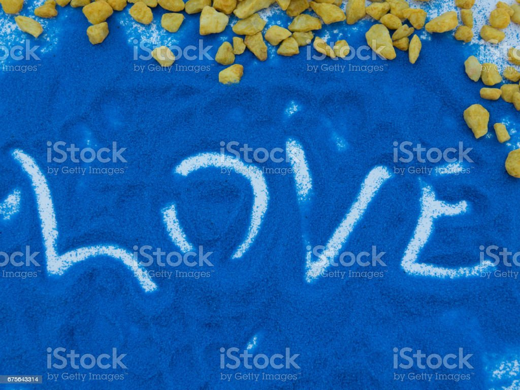 love  written  in colors sand royalty-free stock photo