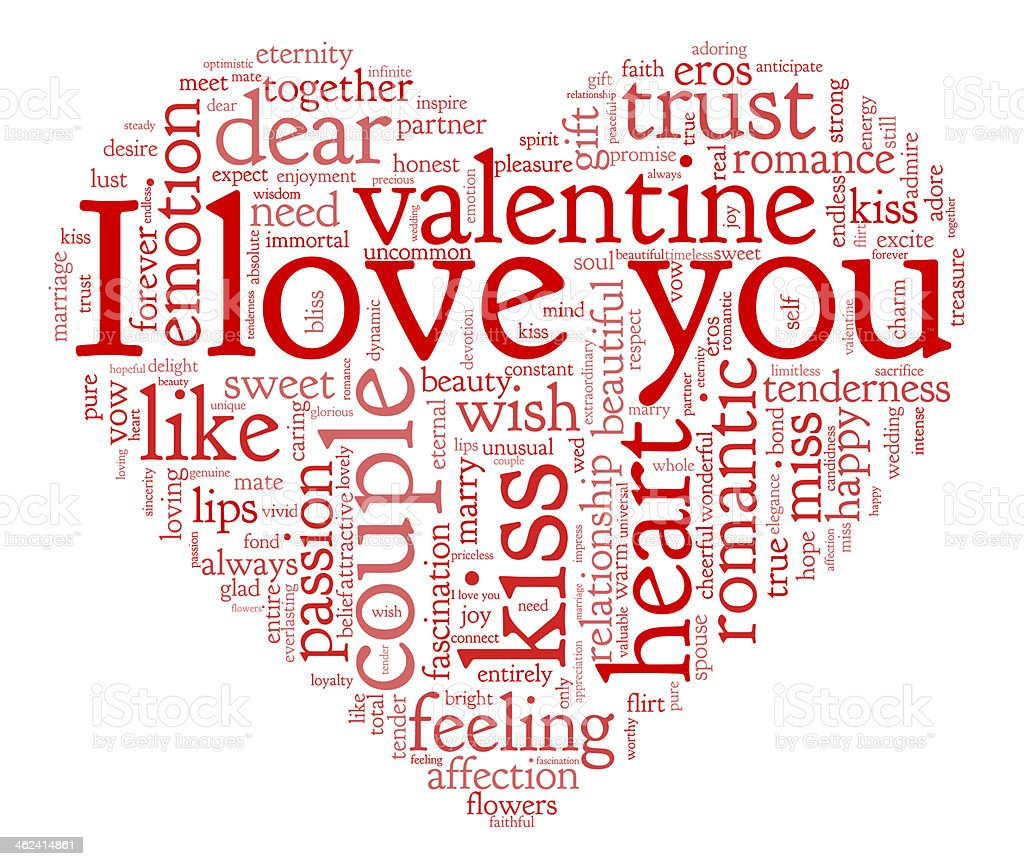 I love you and valentine concept stock photo