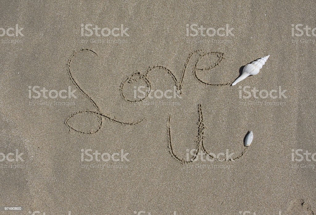 Love You at the Beach royalty-free stock photo