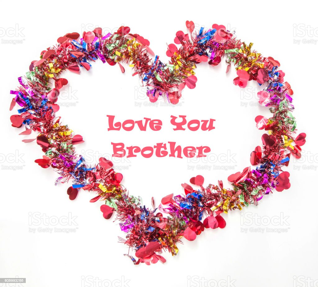 Love You Brother Greeting Card Stock Photo More Pictures Of