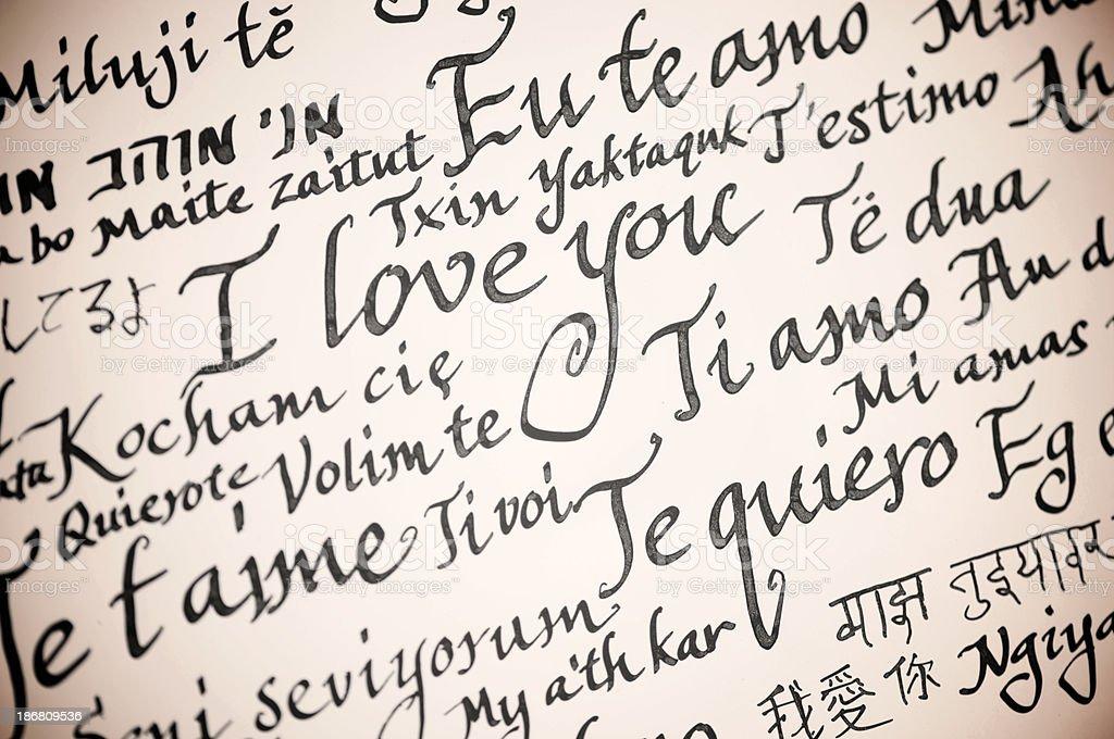 Fotografia De I Love You Calligraphy Escrito A Mano Mensaje En