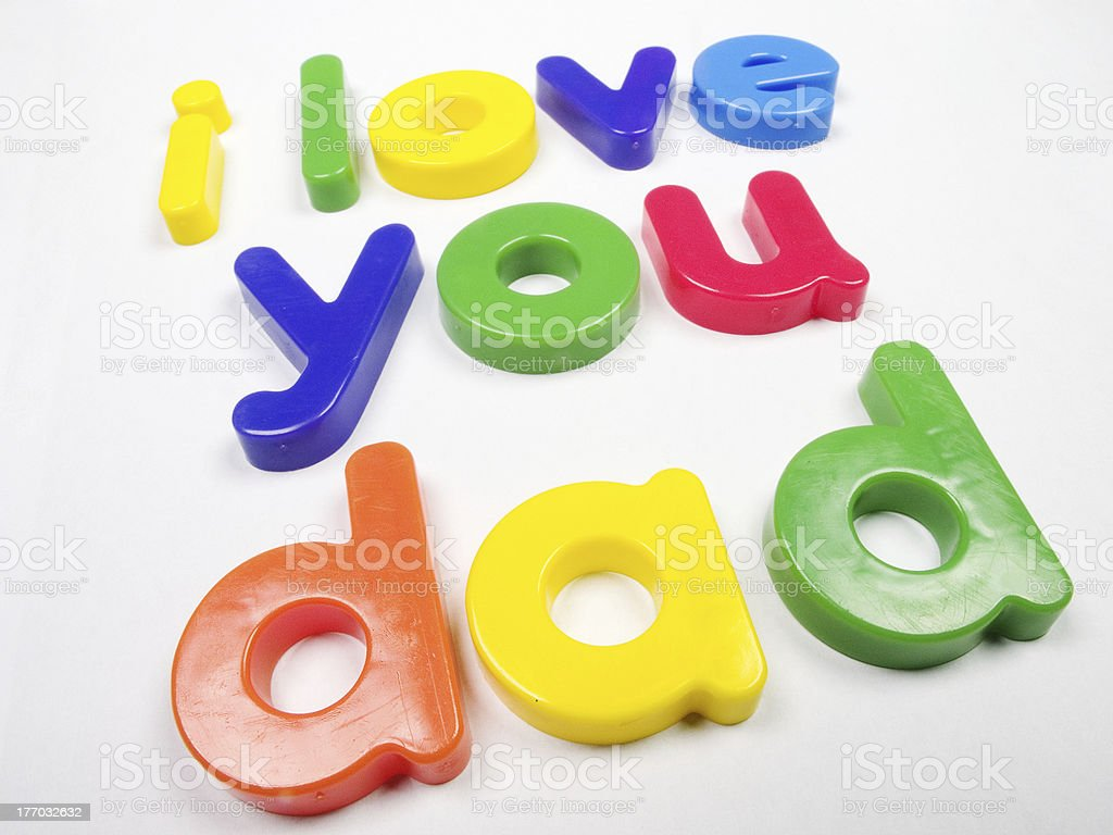I love you dad magnets stock photo
