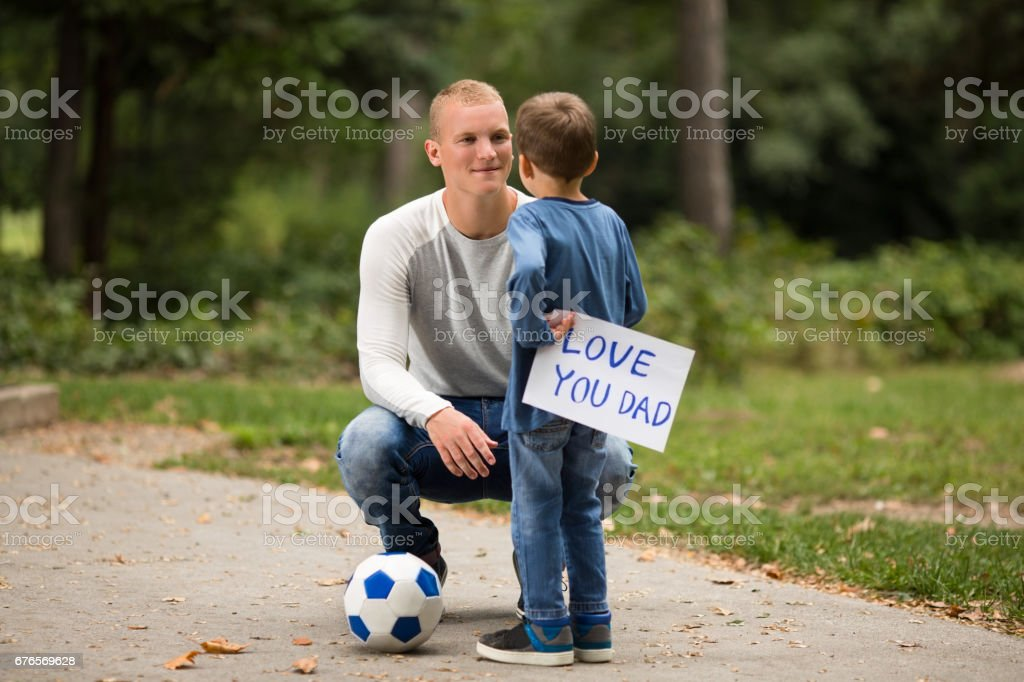 I Love You Dad stock photo
