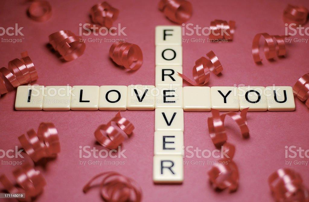 I Love You Forever Crossword stock photo