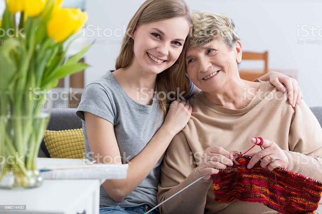 I love you grandma very much! foto royalty-free