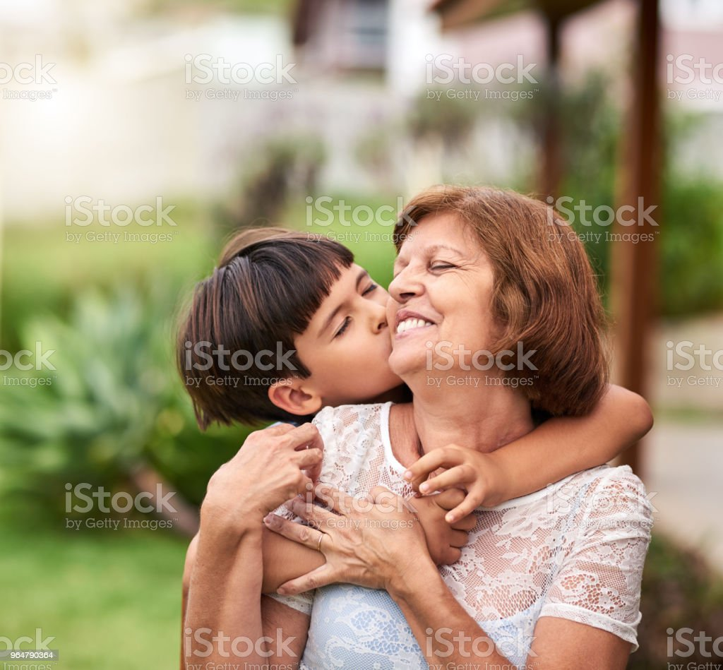 I love you, granny royalty-free stock photo