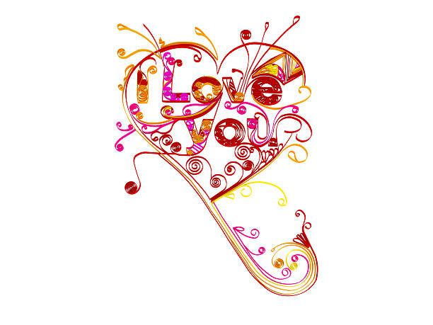 I love you heart stock photo