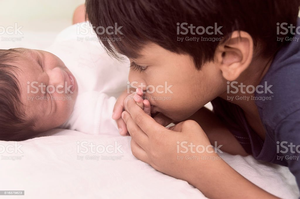 I Love You Little Brother Stock Photo More Pictures Of 0 11 Months