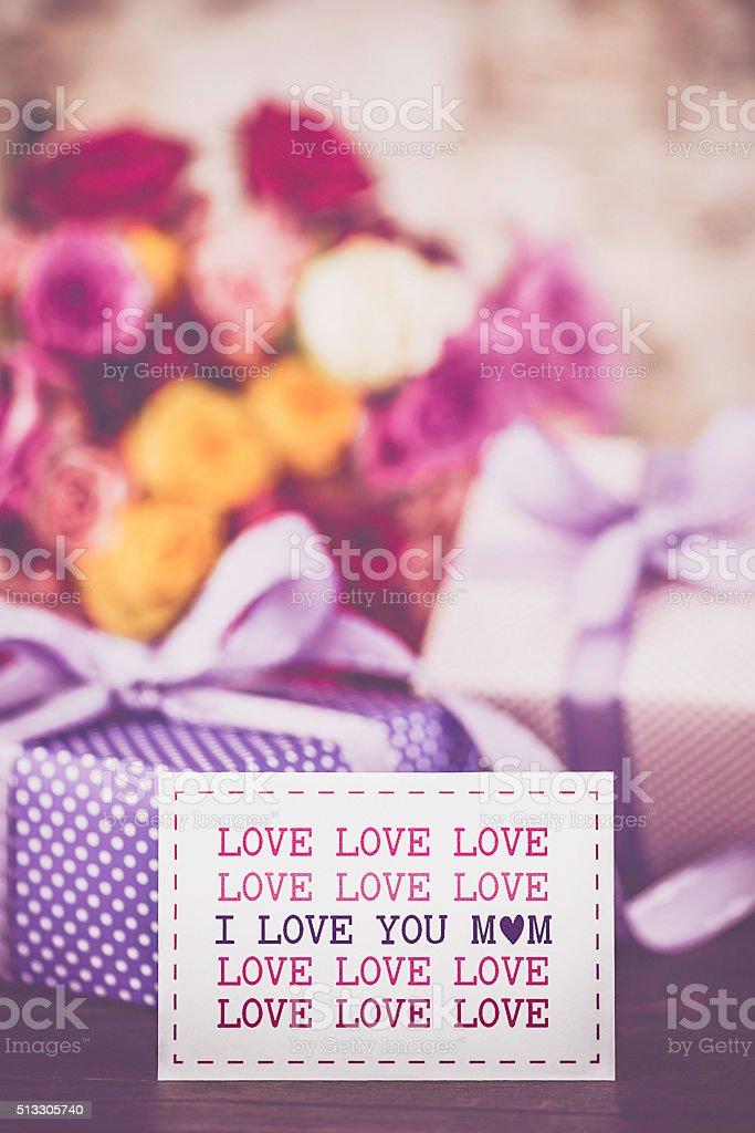 Photo Libre De Droit De Aime Vous Message Et Cadeaux Pour