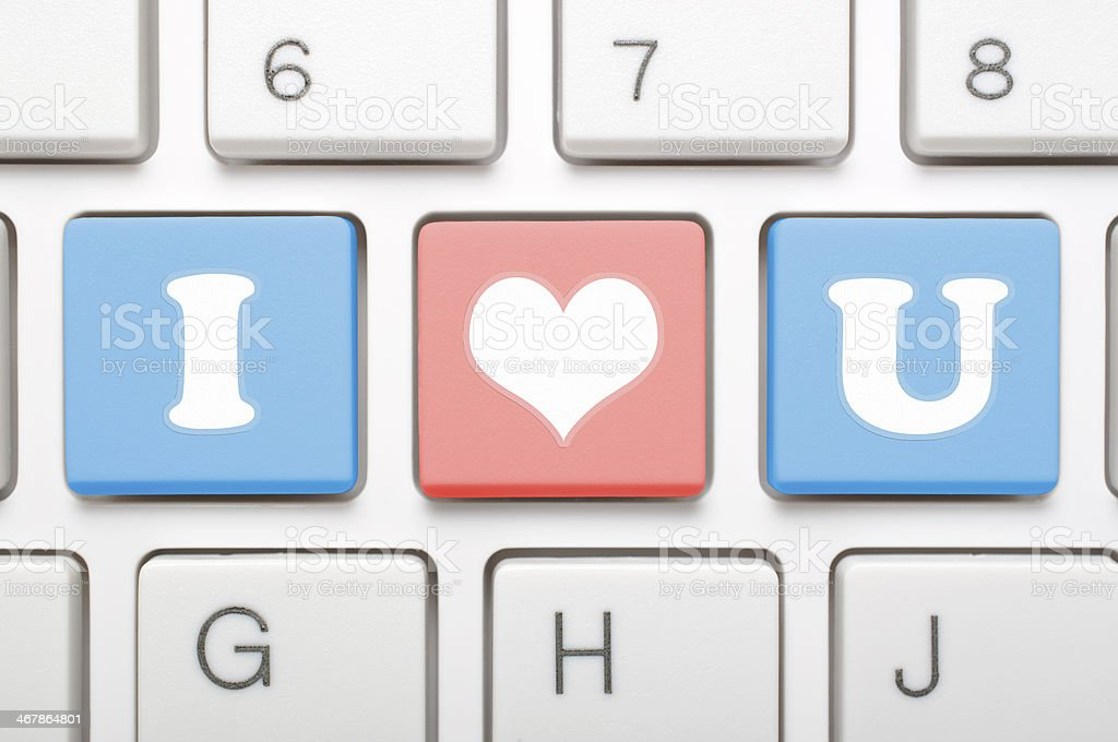 I Love You Minimalistic Symbol On 3 Keys Stock Photo More Pictures