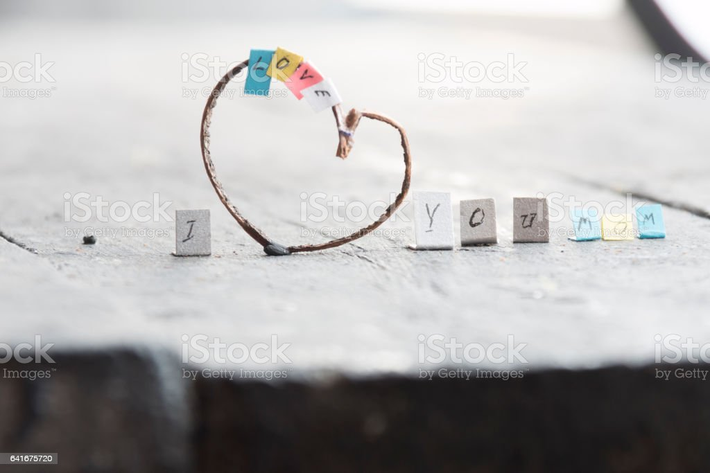 I Love You Mom! March 8. International Women's Day greeting stock photo