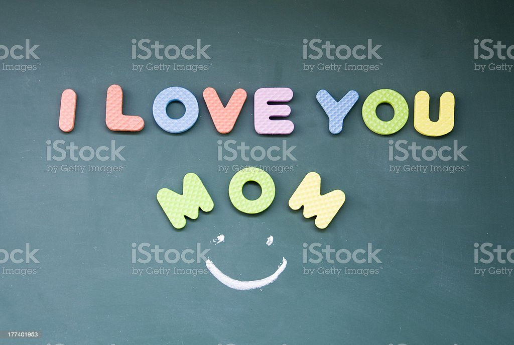 I love you mom sign royalty-free stock photo