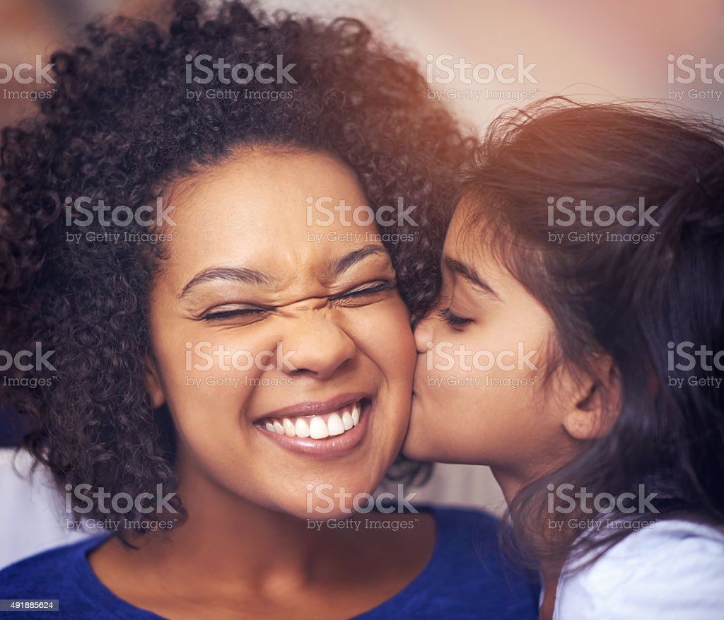Love you, Mommy! stock photo