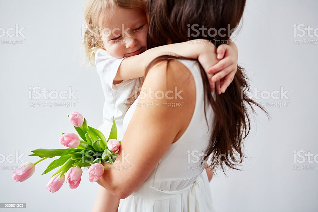 I love you mommy stock photo