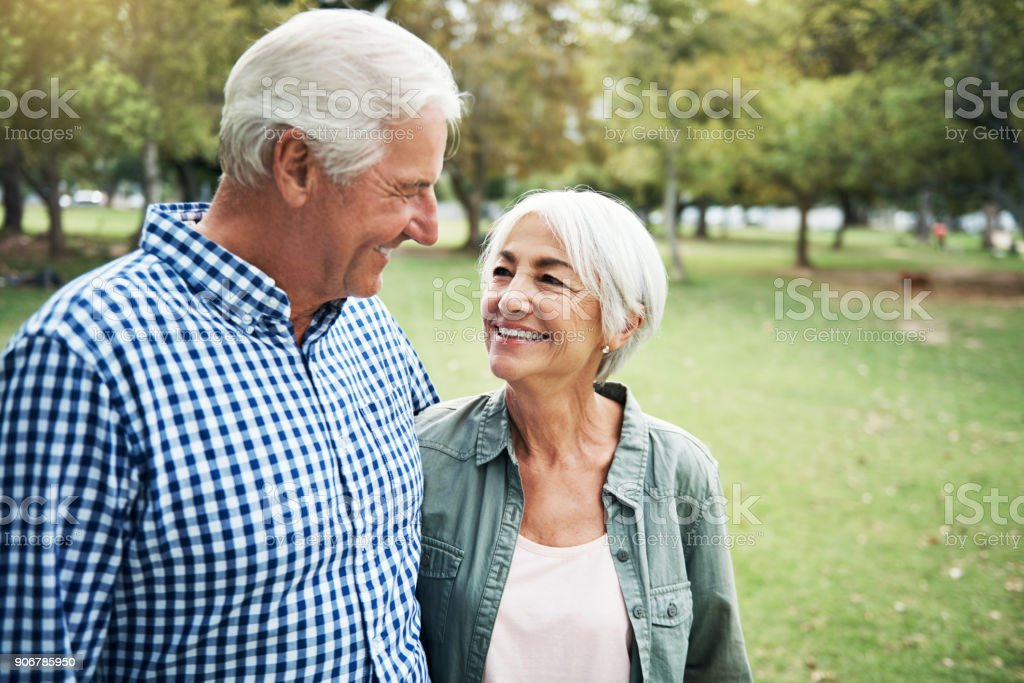 I love you more with each year that passes stock photo