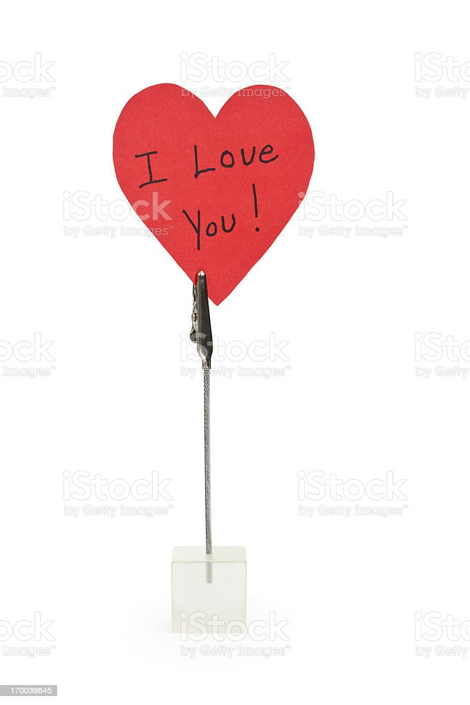 I Love You Note royalty-free stock photo