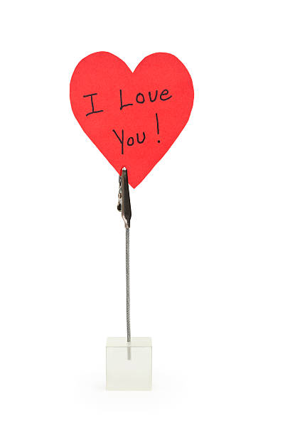 i love you note - i love you stock photos and pictures