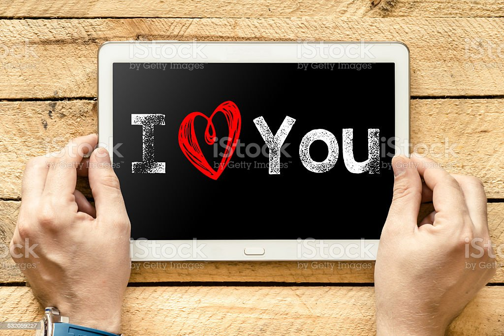 I love you On PC stock photo