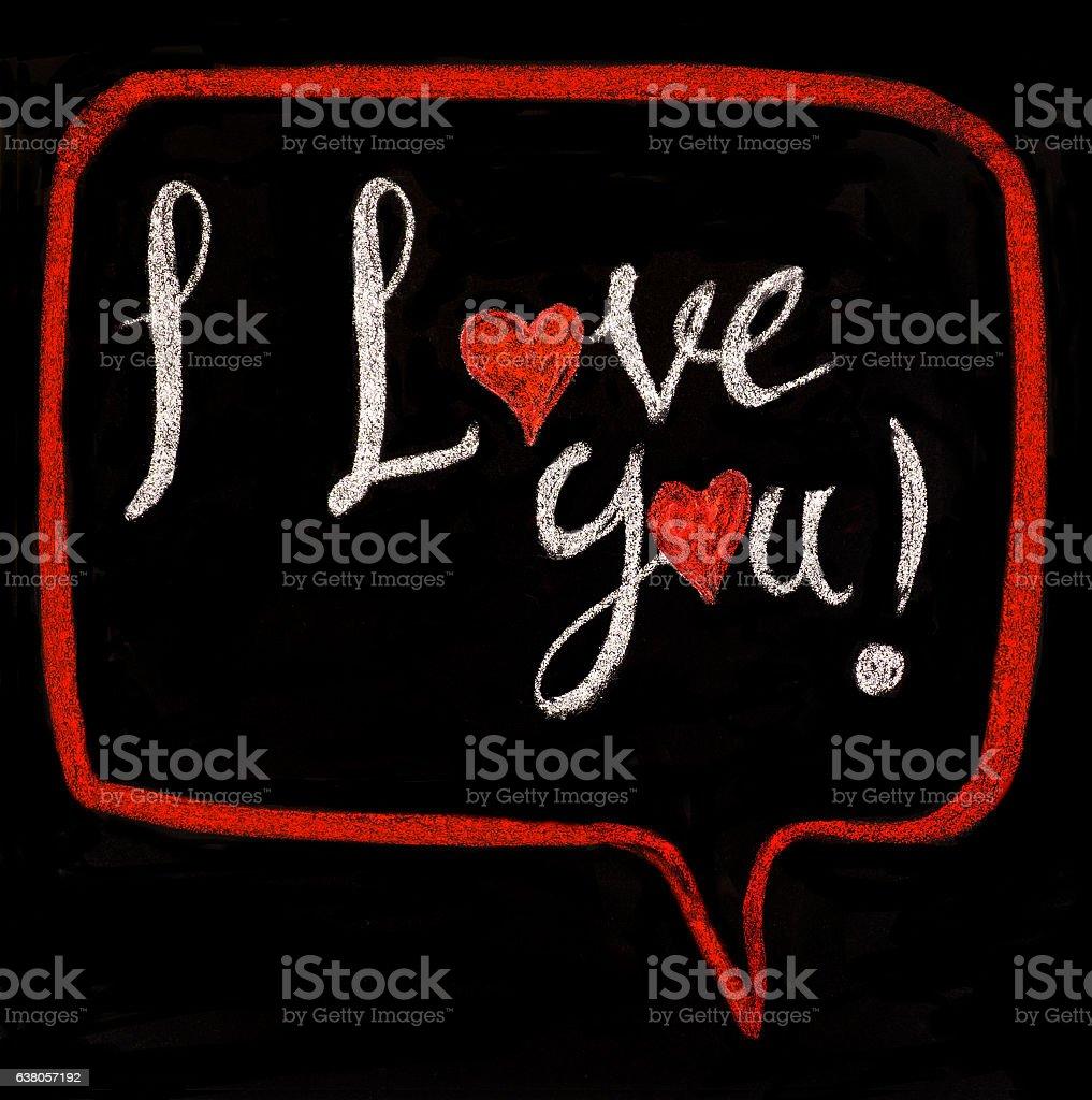 I love you! stock photo