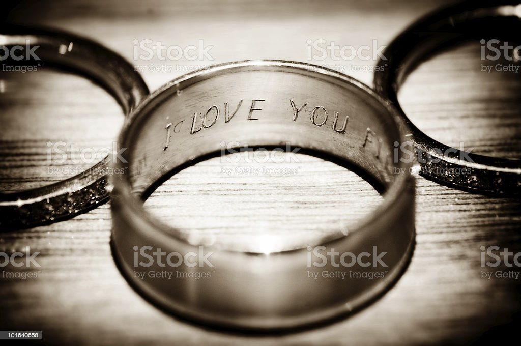 I Love You Rings royalty-free stock photo