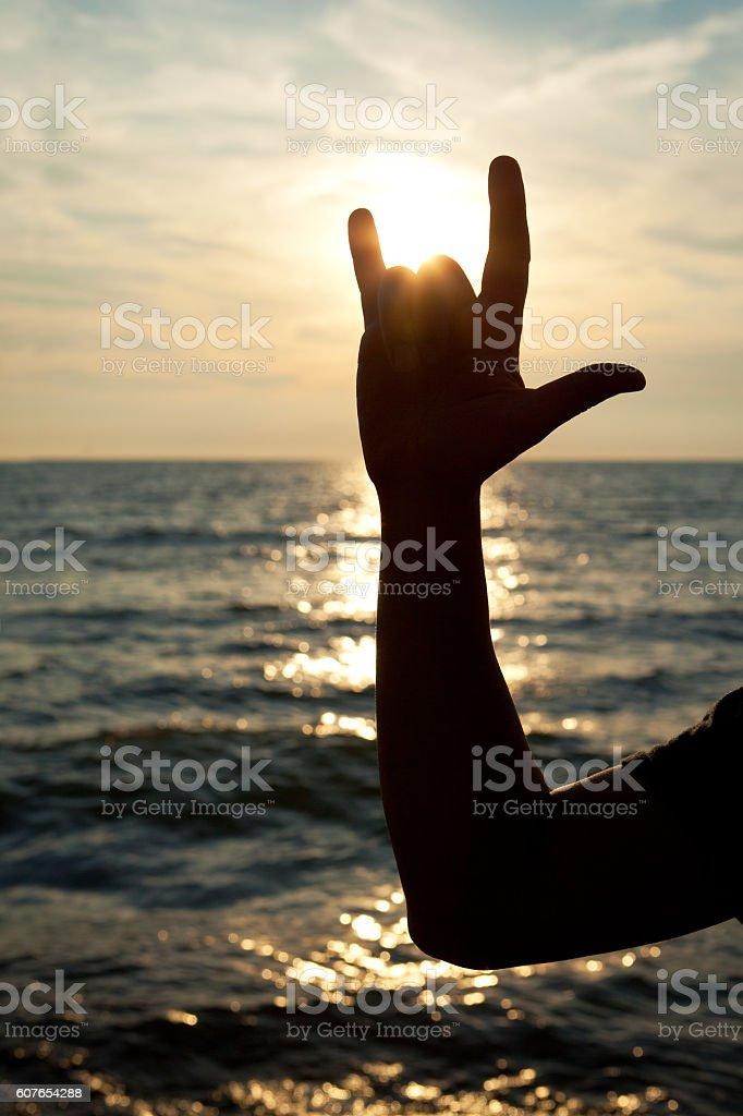 I Love You Sign Language stock photo