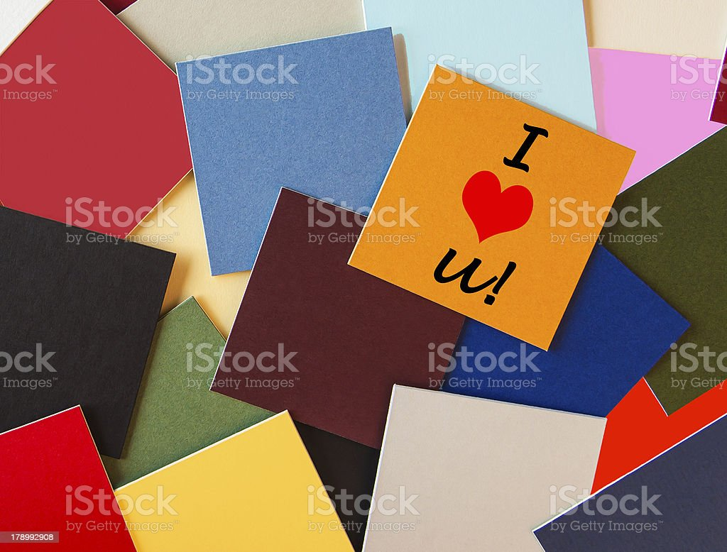 I Love You sign. royalty-free stock photo