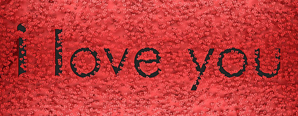 i love you text among the symbols of hearts 3d - i love you stock photos and pictures