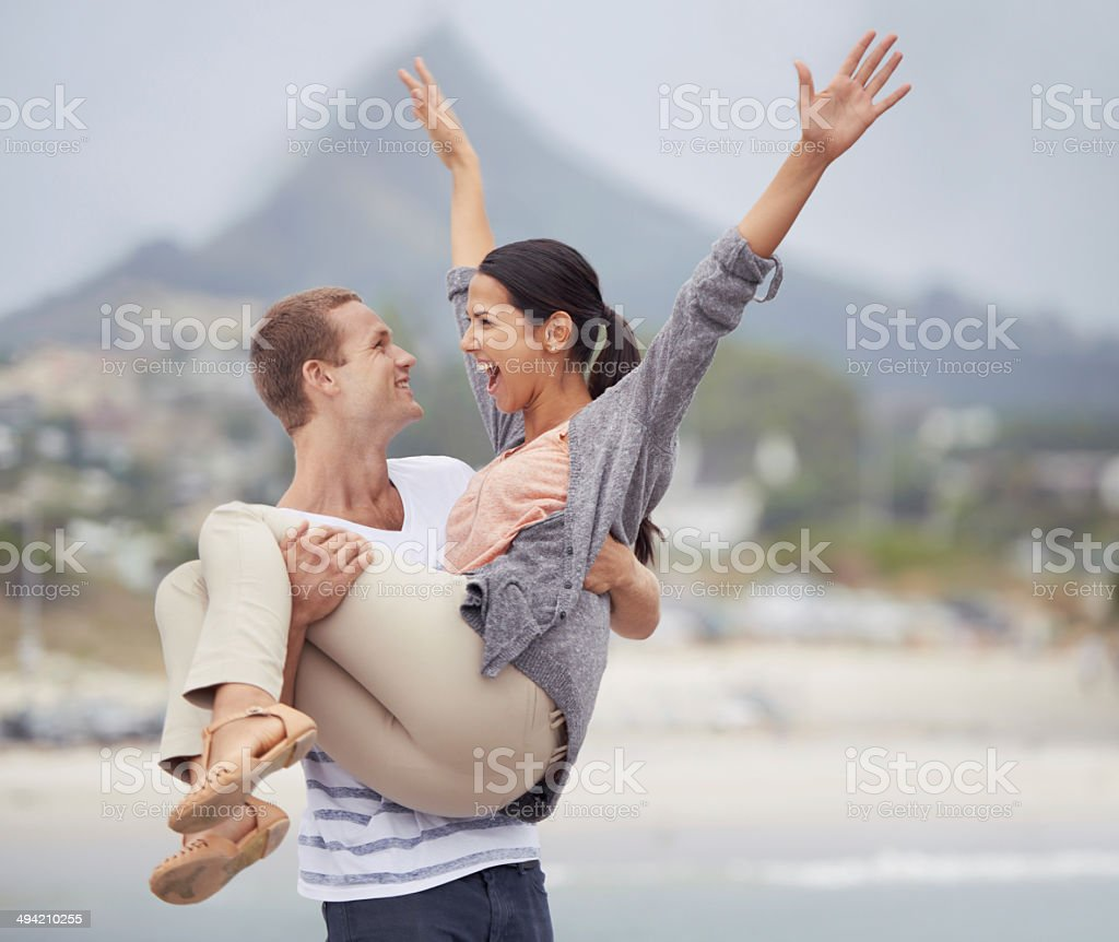 I love you this much! stock photo