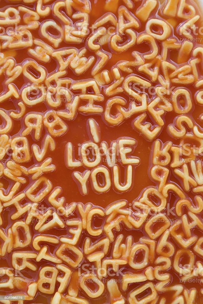 I Love You - Vertical Aspect stock photo