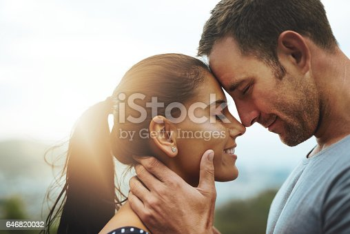 Shot of a young couple enjoying a romantic day outdoors