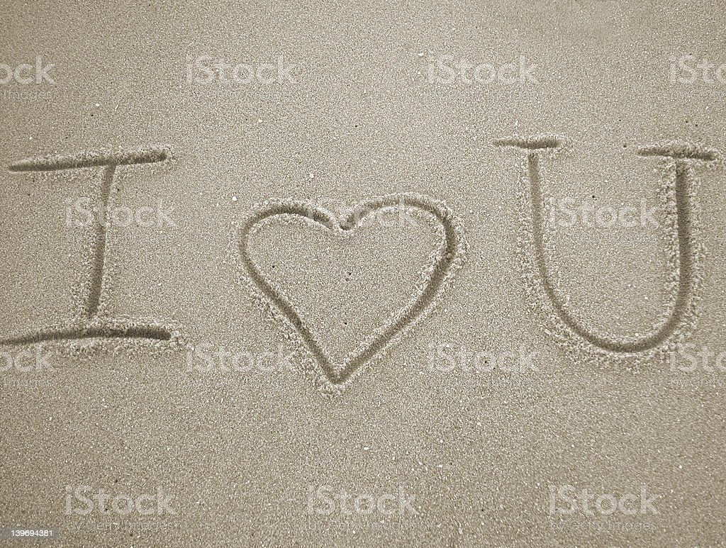 I love you with heart royalty-free stock photo