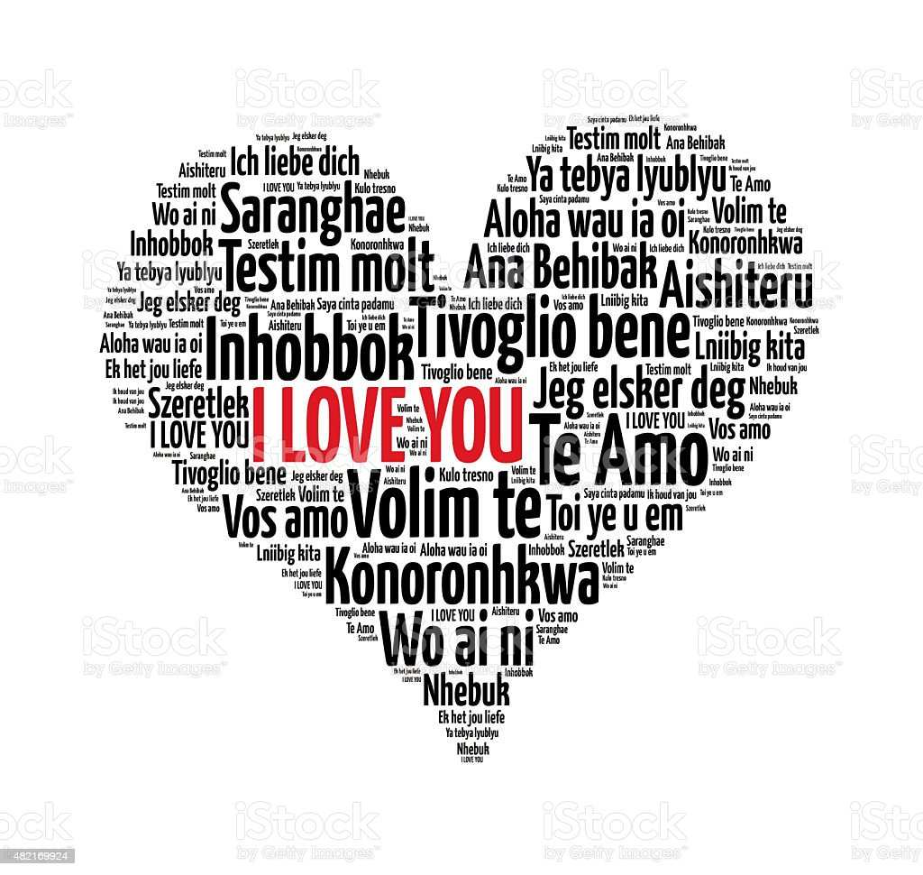 I love you words in different languages of the world stock photo i love you words in different languages of the world royalty free stock buycottarizona Images