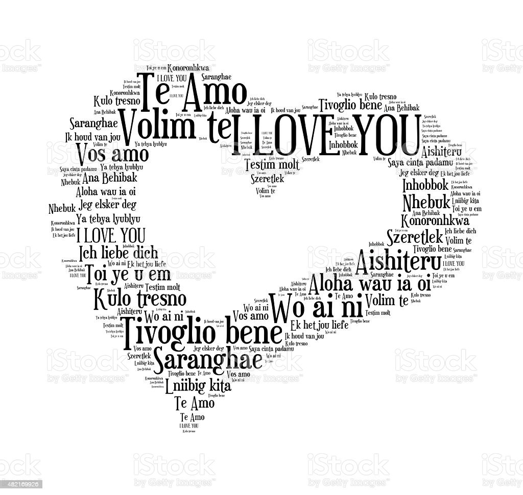 I love you words in different languages of the world stock photo i love you words in different languages of the world royalty free stock buycottarizona Image collections
