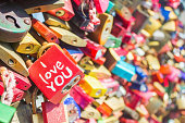 I love you written on padlock