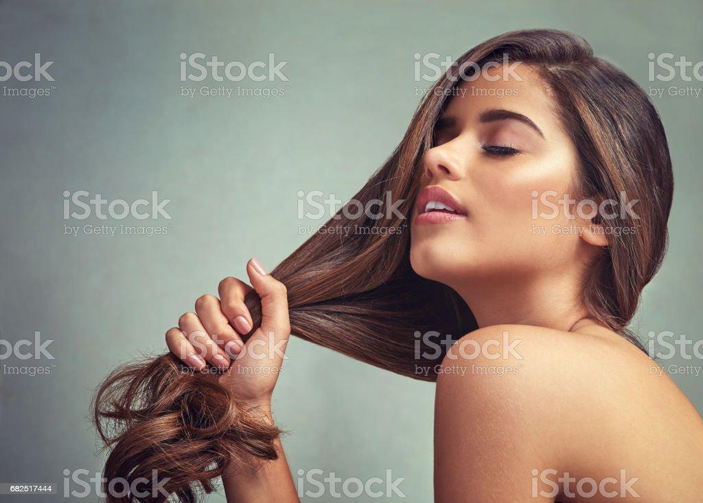 Amarse a uno mismo, amo tu cabello foto de stock libre de derechos